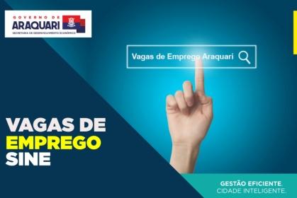 VAGAS DE EMPREGO DA SEMANA DISPONÍVEIS NO SINE COM RG; CPF; CNT